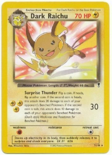 Dark raichu 7 rare legendary collection
