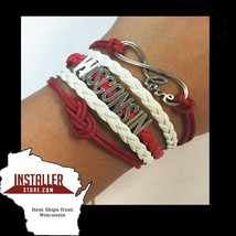 University Wisconsin Bracelet - Love Wisconsin Jewelry Ships from USA (WI) - $7.99