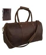 Genuine Leather Duffel Travel Weekender Luggage Gym Sports Duffel Bags F... - $88.99