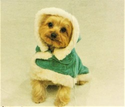 Small Dog Shimmer Suede Jacket with Hood from Casual Canine - Blue Mist NWT - $8.95