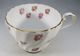 Vintage Aynsley Porcelain Tea Cup Hathaway Bone China Pink Roses England image 2