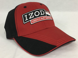 IZOD Indycar Series Black & Red Baseball Cap Adjustable Snap - $19.98
