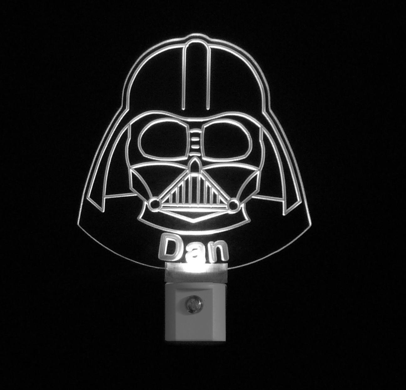Star Wars Darth Vader Personalized LED Night Light, Handmade, Man Cave -Gift