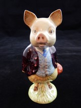 Beatrix Potter Pigling Bland Figurine w/BP2 Beswick Gold Oval   RARE - $98.99