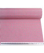 Red White Gingham Check Cotton Blend High Quality Fabric Material 3 Sizes - $14.61