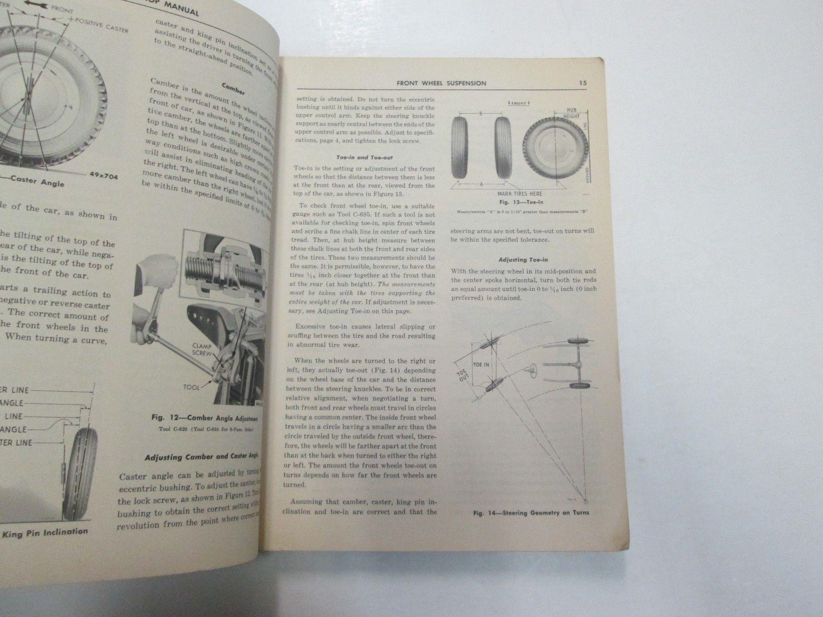 1950 Chrysler DeSoto Models S11 S13 S14 Shop Manual WEAR DAMAGED FACTORY OEM 50