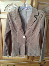 tan corduroy blazer jacket by forever 21 size small beautiful condition  - $49.99