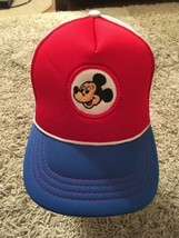 Vintage Walt Disney Mickey Mouse SnapBack Trucker Hat, Youth Size, EXCELLENT!! - $49.99