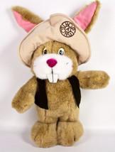 """Applause Hop A Long Bunny Rabbit 13"""" Plush Brown Hat Vest Hopalong Easte... - $9.95"""