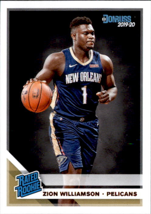 Primary image for Zion Williamson 2019-20 Donruss Rated Rookie Card #201