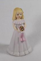 ENESCO 1981 GROWING UP BIRTHDAY GIRLS AGE 8 BLONDE KEEPSAKE GIFT MEMORIES - $9.99