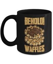 Behold Waffles Funny Food Lover Home Office Coffee Mug Tea Cup - £8.45 GBP+