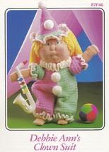 Debbie Ann's Clown Suit, Annie's Crochet Doll Clothes Pattern Booklet 87F46 - $3.95