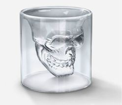 1  Skull Shotglass Double Sized at 2 OZ  - $12.00