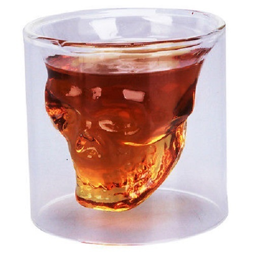 1  Skull Shotglass Double Sized at 2 OZ