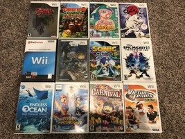 Wii 12 game lot - Donkey Kong, Kirby, Zelda, Metroid Prime, Sonic, more!  - $80.51