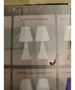 Simple Designs Valencia Colors 2 Pack Mini Touch Table Lamp Set with Fab... - $32.00