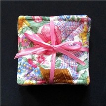 "Easter Coaster Set of 6 3 3/4""- Baskets & Flowe... - $4.00"