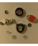 NFL Oakland Raiders Floating Locket Charm Set With Small Velvet Bag - $5.99
