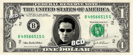 Keanu Reeves NEO on a REAL Dollar Bill Cash Money Collectible Memorabilia Celebr - $7.77