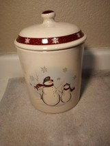 ROYAL SEASONS  SNOWMAN COOKIE JAR / CANISTER--CHRISTMAS-----FREE SHIP--VGC - $31.74