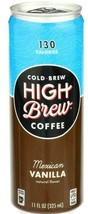 High Brew Cold Brew Coffee Mexican Vanilla Flavored 11 oz ( Pack of 6 ) - $24.74
