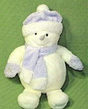 "20"" Commonwealth MELTIN the SNOWMAN 2001 Plush Sparkle White Purple Hat ... - $36.47"