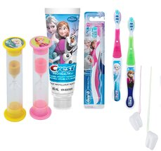 "Disney Frozen ""Sisters"" Elsa & Anna 5pc Bright Smile Oral Hygiene Set! S... - $24.99"