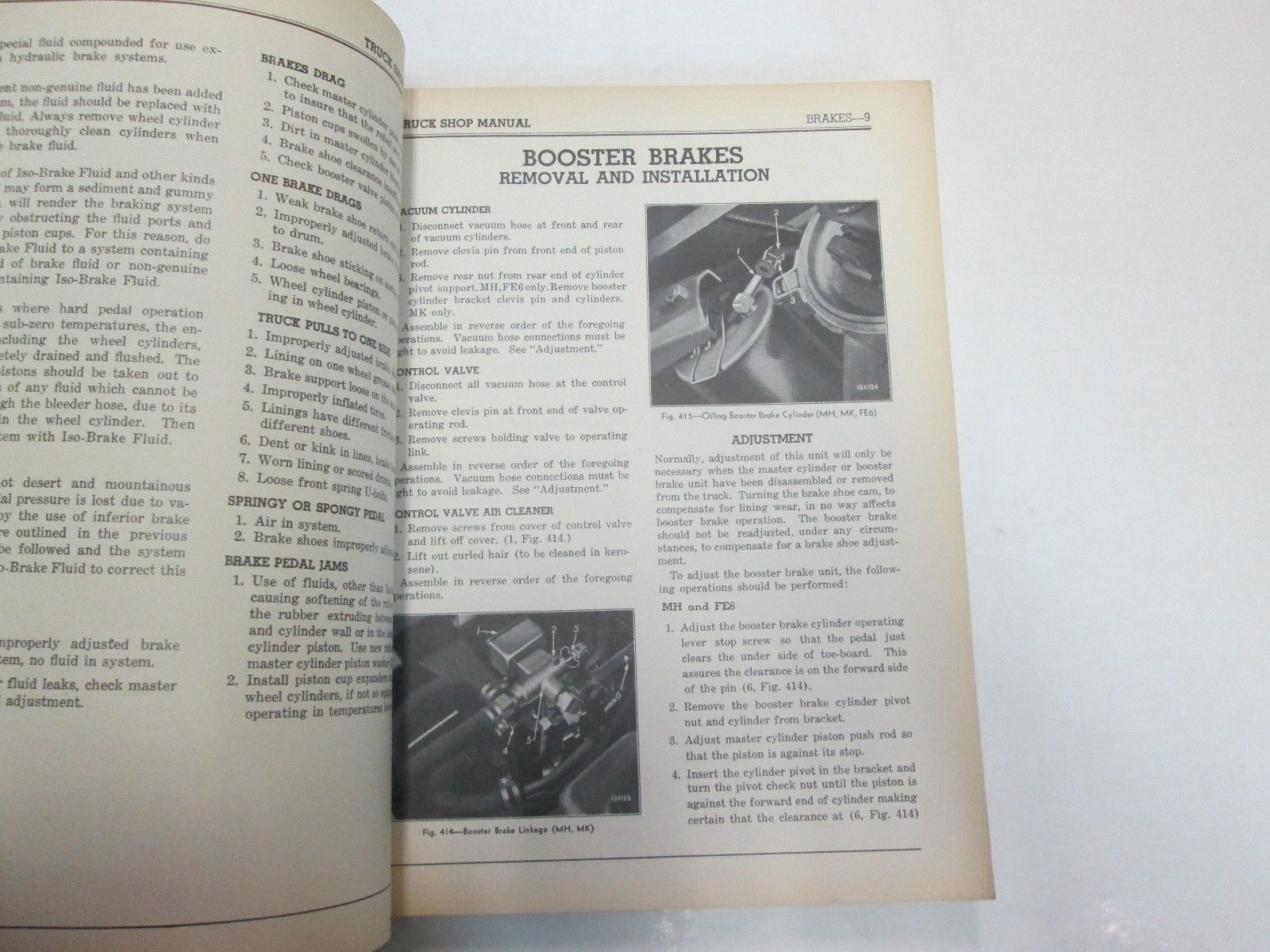 1937 Chrysler Truck Series M & FE Shop Manual STAINED DAMAGE FACTORY OEM BOOK 37