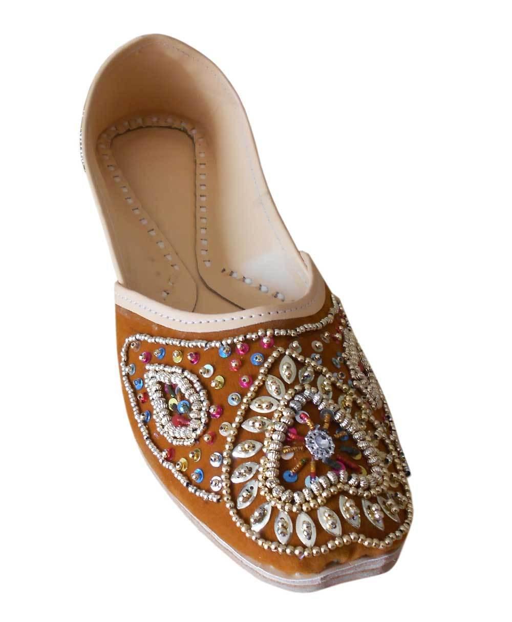 Handmade Wedding Jooti Khussa Men Royal Blue Velvet Mojari jutti Groom Shoe US10
