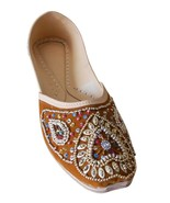 Women Shoes Indian Handmade Leather Brown Oxfords Bridal Jutti US 9.5-12 - $29.99