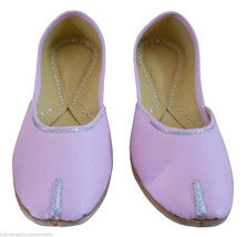 Women Shoes Indian Handmade Leather Traditional Ballet Flats Pink Mojari US 8.5 - $27.99