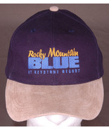Rocky Mountain Blue at Keystone Resort Hat-Blue Cap-Cotton/Leather-Embro... - $33.65