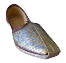 Men Shoes Indian Handmade Designer Leather Loafers Khussa Mojaries US 7.5 - $39.99