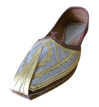 Men Shoes Indian Handmade Designer Brown Loafers Leather Khussa Mojaries US 10 - $39.99
