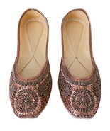 Women Shoes Indian Handmade Brown Leather Oxfords Mojaries US 10 - $47.99