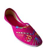 Women Shoes Indian Handmade Jutties Designer Leather Pink Ballet Flats U... - $29.99