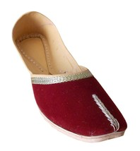 Women Shoes Indian Handmade Ballet Flats Leather Maroon Mojaries US 6-12 - $24.99