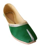 Women Shoes Indian Handmade Casual Leather Ballet Flats Green Mojari US ... - $24.99