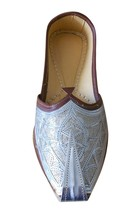Men Shoes Indian Handmade Khussa Mojaries Leather Loafers Jutti US 8.5 - $39.99