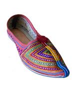 Women Shoes Traditional Indian Handmade Pointy Flats Banjara Jutties US 6-9 - £24.26 GBP