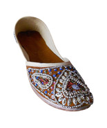 Women Shoes Indian Leather Handmade Mojaries Brown Oxfords Jutti Flat US... - $29.99