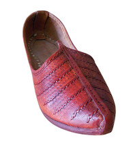 Men Shoes Indian Handmade Traditional Leather Espadrilles Cheery Mojaries US 9 - $39.99