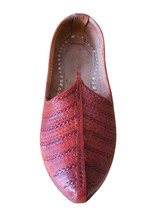 Men Shoes Indian Handmade Leather Mojari Cherry Espadrilles Jutties Flat US 8 - $39.99