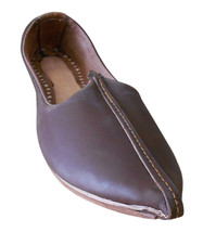 Men Shoes Indian Handmade Genuine Leather Espadrilles Mojari Brown US 9 - $39.99