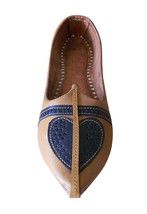 Men Shoes Indian Handmade Camel Jodhpuri Genuine Leather Espadrilles Mojari US 8 - $39.99