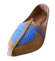 Men Shoes Indian Handmade Genuine Leather Espadrilles Camel Mojari Flat US 13 - $39.99