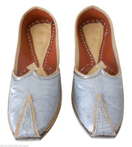 Men Shoes Indian Handmade Mojari Leather Loafers Wedding Khussa Jutties US 8 - $39.99