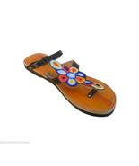 Women Slippers Indian Designer Handmade Leather Flip-Flops Slip Ons US 6-10 - $29.99