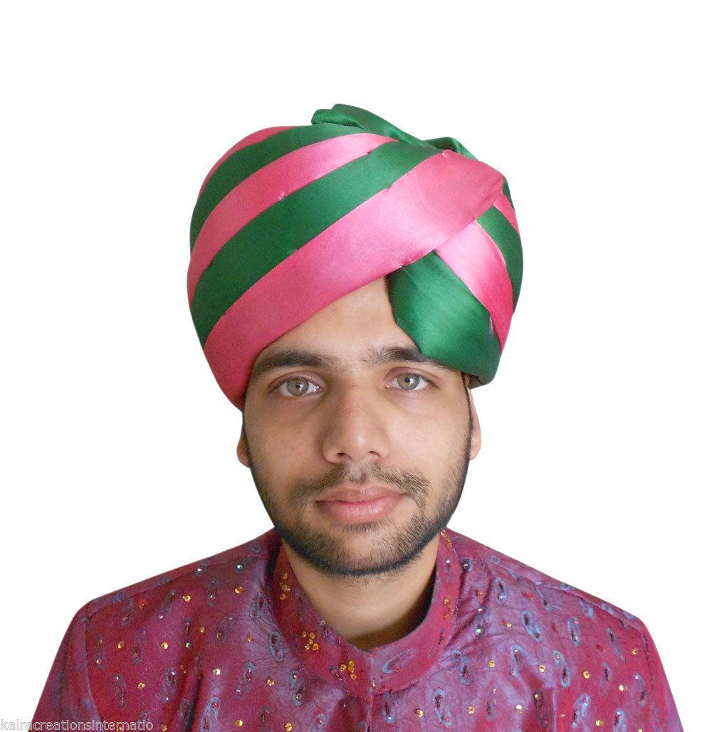 pagri men Men hat pagri indian wedding turban safa royal pag silk blend large pagri new - indian wedding pagri.